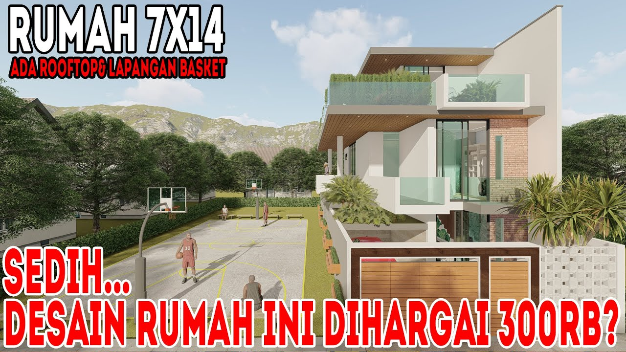 Desain rumah modern ini banyak kamar, rooftop dan kolam koi?tapi cuma dihargai 300rb aja?