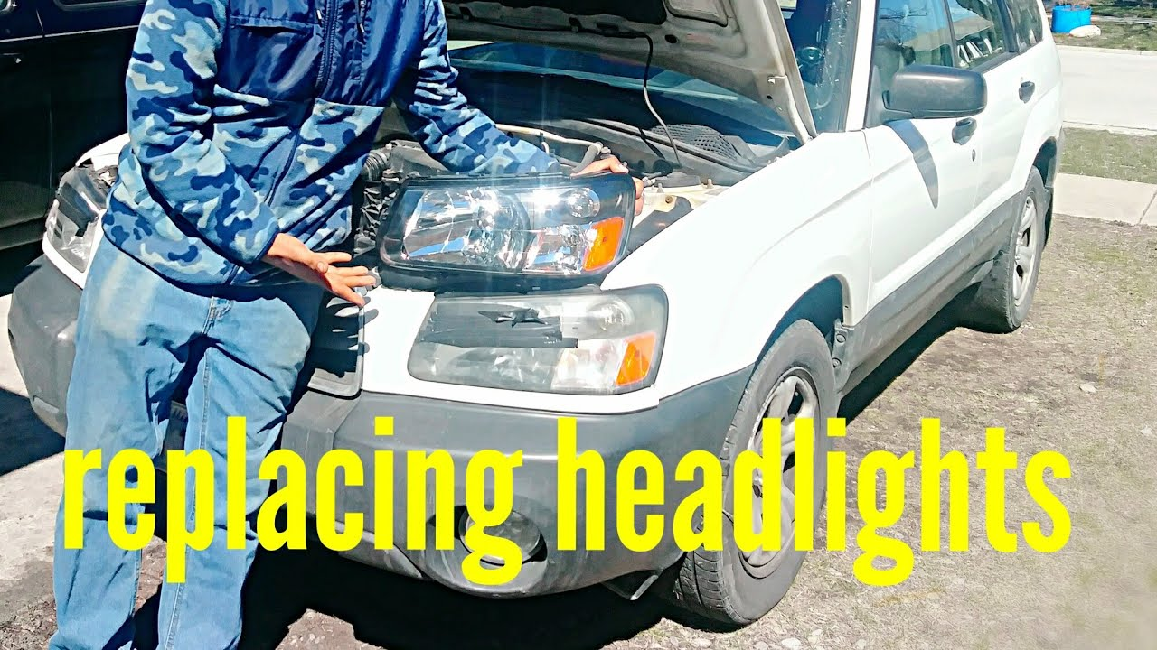 2004 Subaru Forester Headlight Replacement