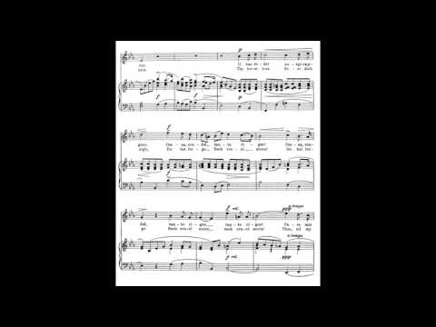 9 Caro mio ben (from 24 Italian Songs) piano melody and accompaniment