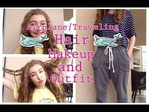 Airplane/Traveling Hair, Makeup, and Outfit!