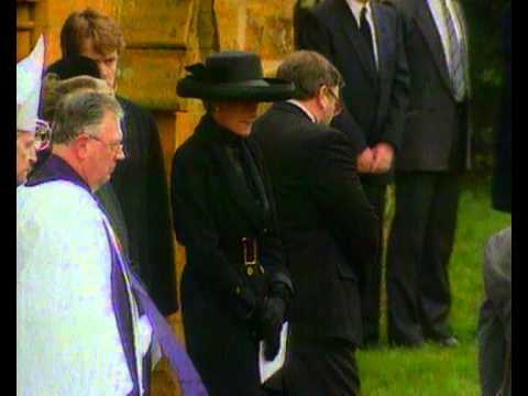 Princess Diana at her father's funeral