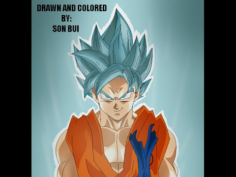 how to draw super saiyan god