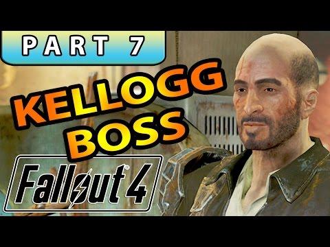 FALLOUT 4 Gameplay Walkthrough Part 7 - KELLOGG BOSS + FAT MAN LOCATION!
