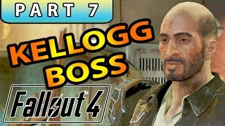 FALLOUT 4 Gameplay Walkthrough Part 7 - KELLOGG BOSS FAT MAN LOCATION