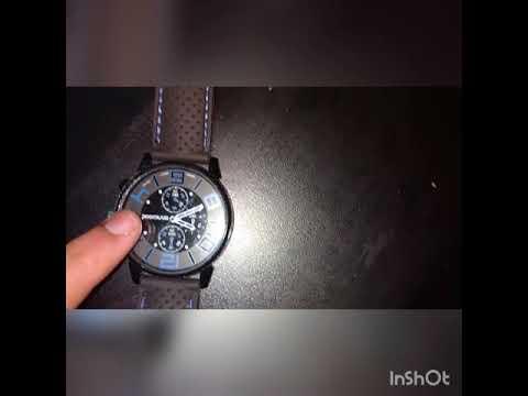 Casual Stainless Steel Quartz Analog Sports Wrist Watch Silicone