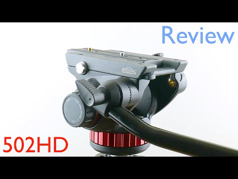 Manfrotto 502HD Pro Video Fluid Head Review - MVH502AH - with 4K Video Test