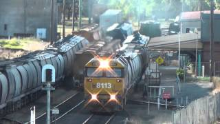 Loaded Flour train at Gunnedah
