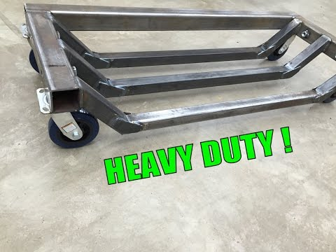 Metalwork Monday - Heavy Machine Dolly Fabrication