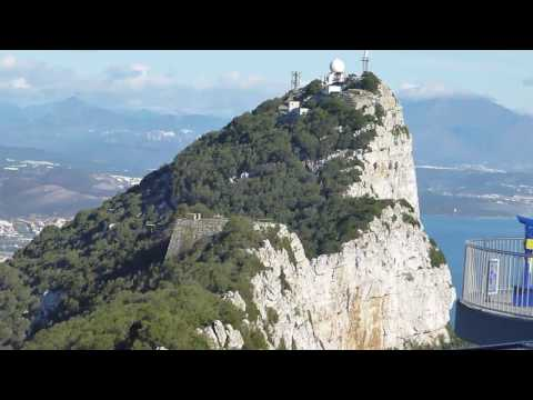 ON TOP OF THE ROCK OF GIBRALTAR