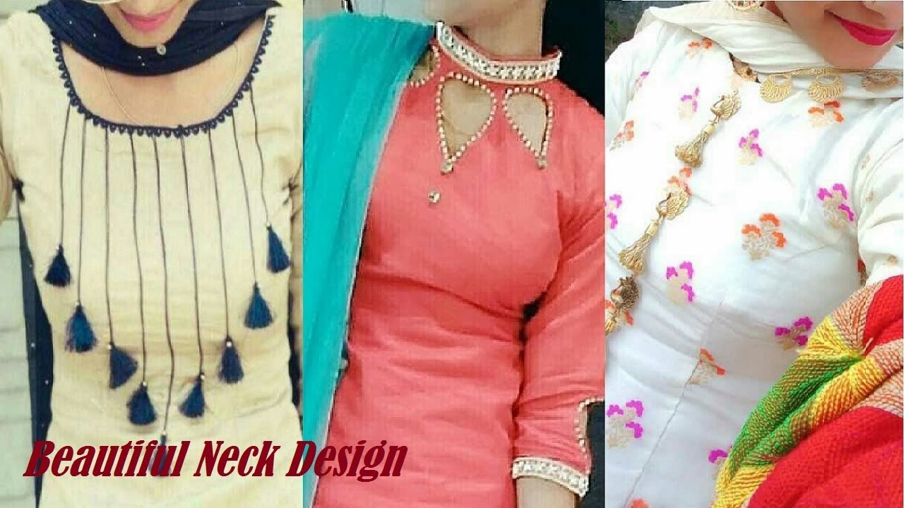 Latest Neck Design Images Suit Neck Design With Laces Punjabi Suit Design For Women Youtube