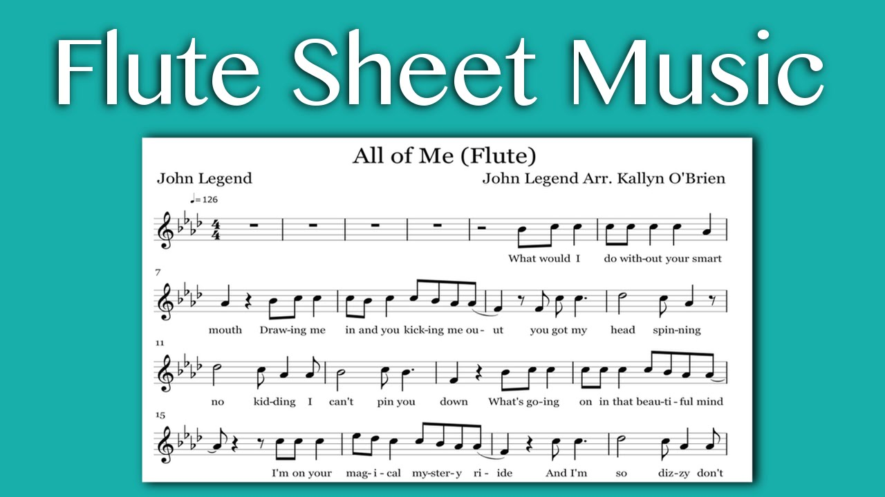 All of me john legend flute sheet music youtube hexwebz Images