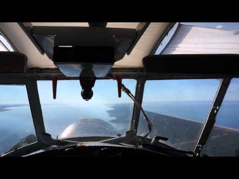 Flying over Curonian Spit from Klaipeda to Kaliningrad by Antonov An-2, 20 minutes video
