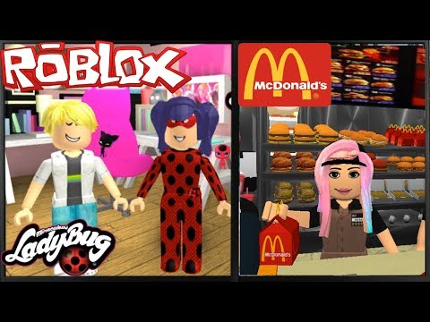 Jugando Roblox Miraculous Ladybug Roleplay Adrien Me Persigue