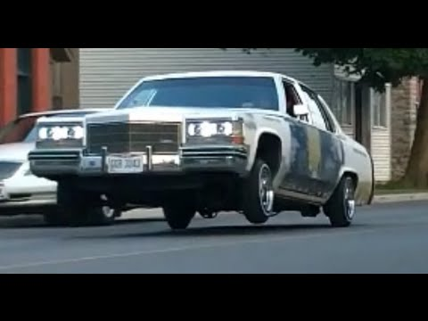 Bagged 1985 Cadillac Fleetwood hopping on air  YouTube