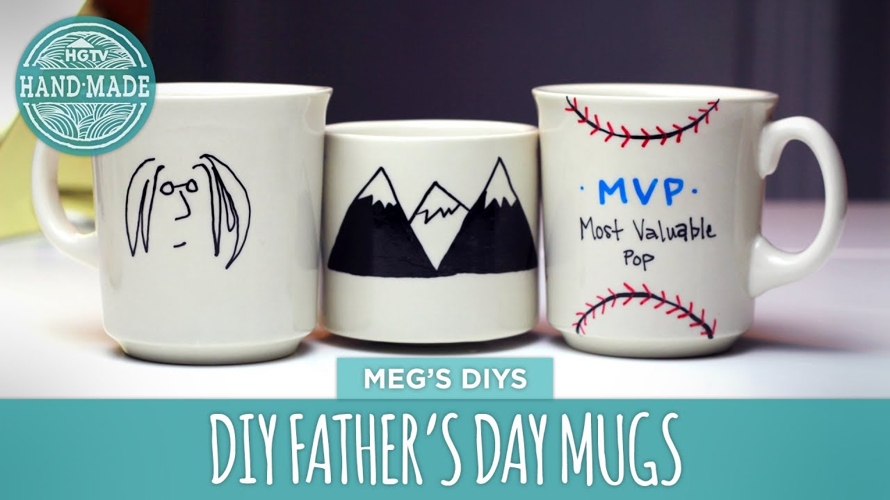 diy father s day coffee cup hgtv handmade youtube