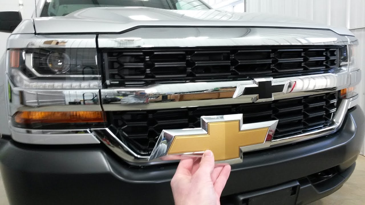 2014-2018 Silverado Bowtie Swap (How to Release Grille ...