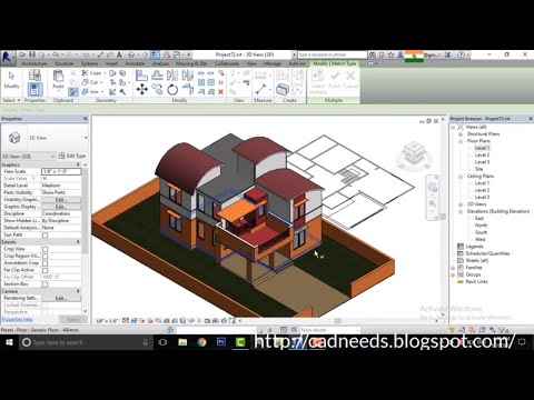 Revit Complete Project #6 | Modern House Design In Revit| Indian House Design