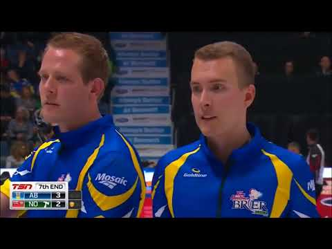 2018 Brier. Three great takeouts by Brendan Bottcher