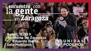 Encuentro de Pablo Iglesias con la gente en Zaragoza