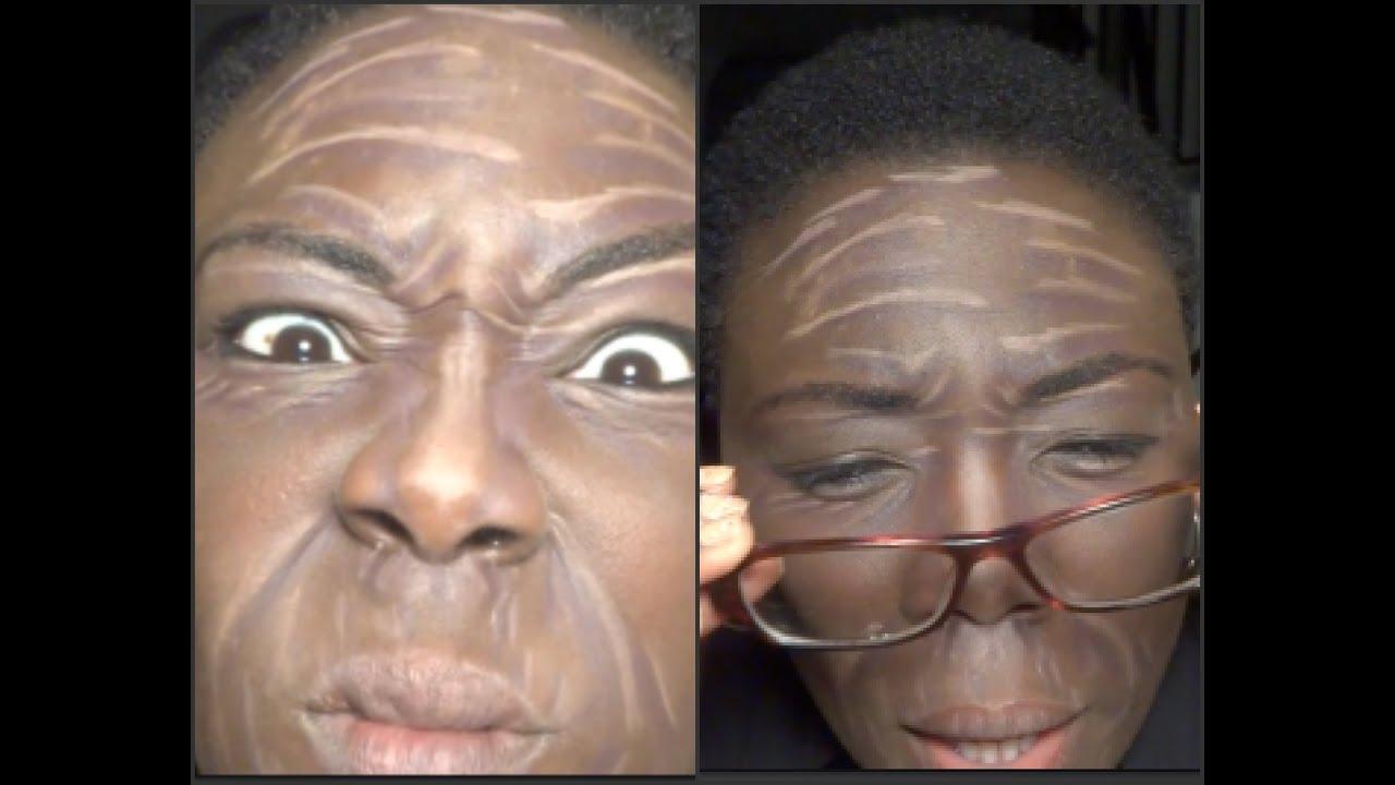 Old Age Makeup | Halloween Series | Dark-Skinned Divas - YouTube