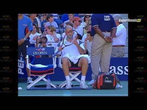 A Agassi   P Sampras Final US Open 2002