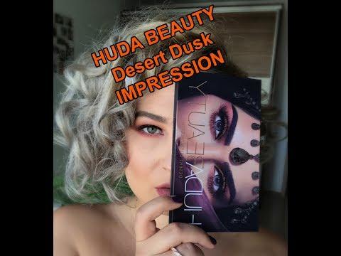 [First Impression Tutorial] - Desert Dusk Palette by HUDA Beauty