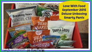 Love With Food September 2015 Deluxe Box | Smarty Pants
