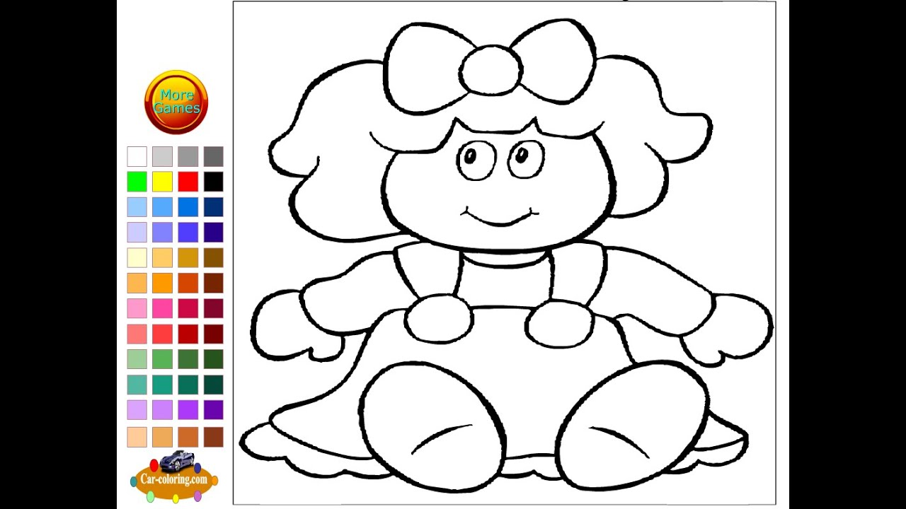 coloring pages dolls - photo#11