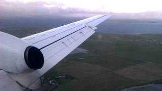 Flybe saab 340 landing at Kirkwall airport