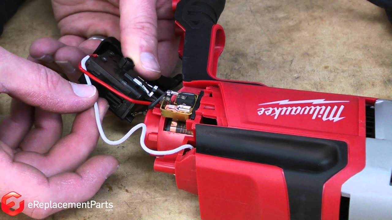 How to Replace the Switch on a Milwaukee 024020 Corded DrillA Quick Fix  YouTube