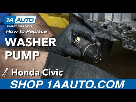 How to Replace Washer Fluid Pump 05-11 Honda Civic