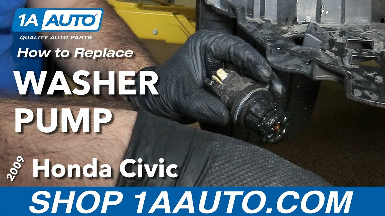 How To Replace Install Washer Fluid Pump 09 Honda Civic Youtube 2008 Ac Wiring Diagram