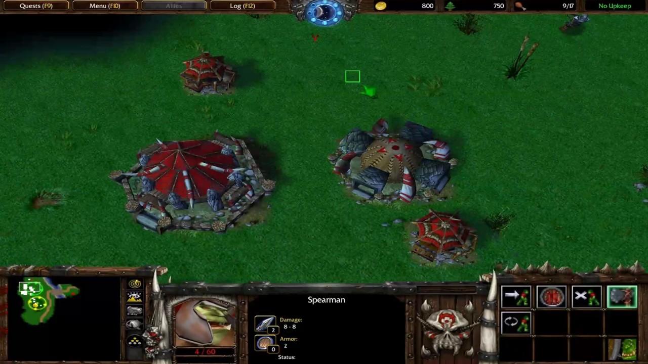 Warcraft Orcs Humans Remake Longplay 3rd Map Hard Mode Youtube