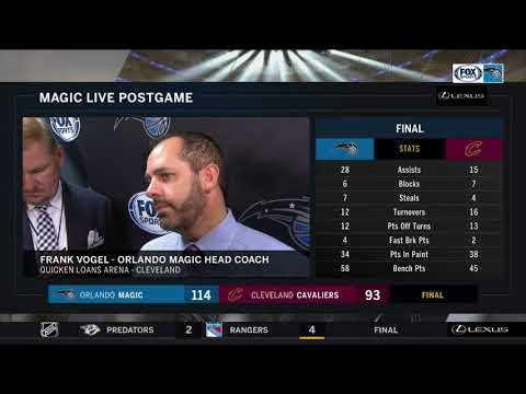 Frank Vogel -- Orlando Magic vs. Cleveland Cavaliers 10/21/2017