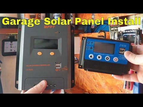 Garage solar panel installation (off grid solar power)