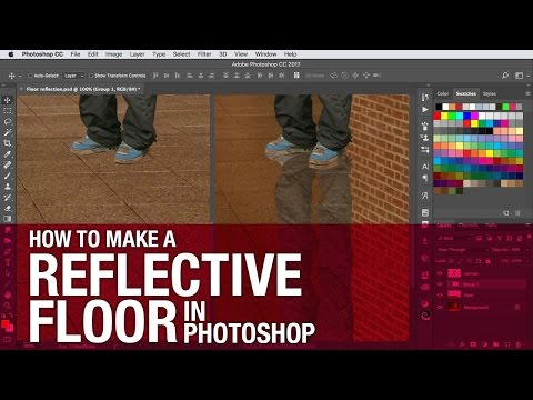 How to make a reflective floor