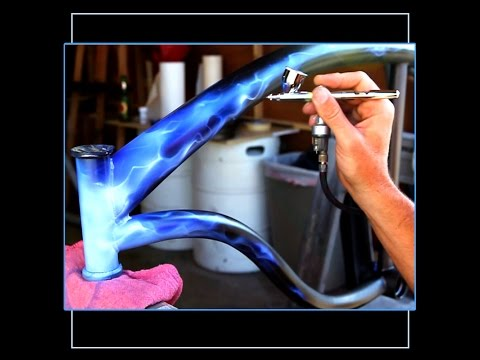 How to Airbrush Paint Blue Fire on Your Bike With Sean Cahill