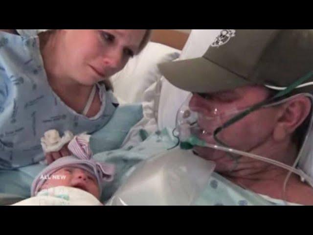 Mutter bringt Baby zwei Wochen früher zur Welt, damit sterbender Vater seine Tochter noch trifft
