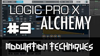 Logic Pro X - Alchemy Tutorial - PART 3 - Modulation, AHDSR, LFO, Sequencer, FX