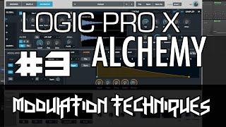 Logic Pro X - Alchemy Tutorial - PART 3 - Modulation, AHDSR, LFO, Sequencer, FX