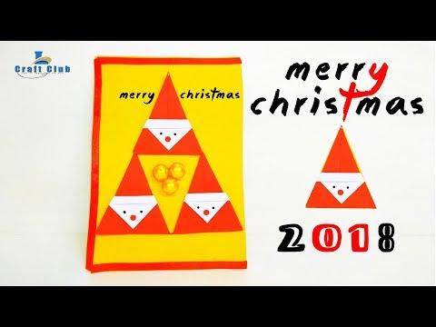 Diy Santa Christmas Card  How To Make Christmas Greeting