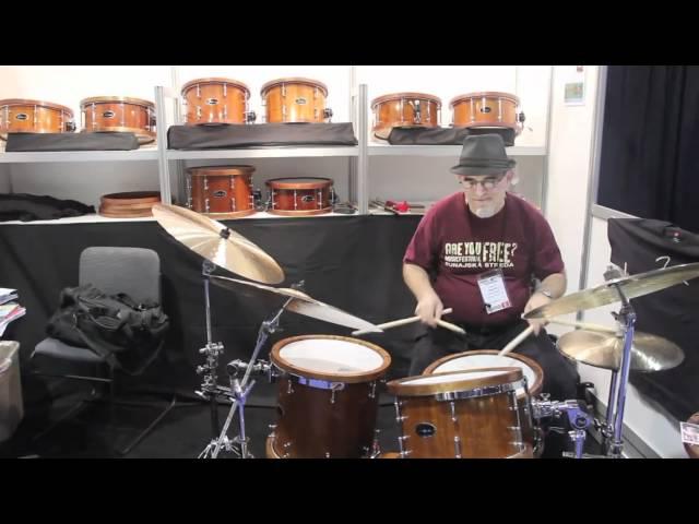 Fidock Drums  / Harvey Sorgen / NAMM 2011 / VintageandRareTV
