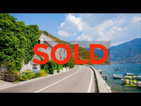 Kotor Bay - Strp, Waterfront stone villa