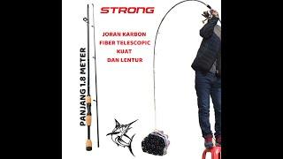 Promo COD Conquest Joran Casting Sambung 2 Joran Pancing Carbon Fiber Ultalight Telescopic 2 Segments 1.8M Fishing Rod Professional Joran Kolam Laut