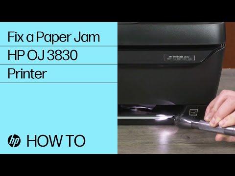 Fix a Paper Jam | HP OfficeJet 3830 Printer | @HPSupport