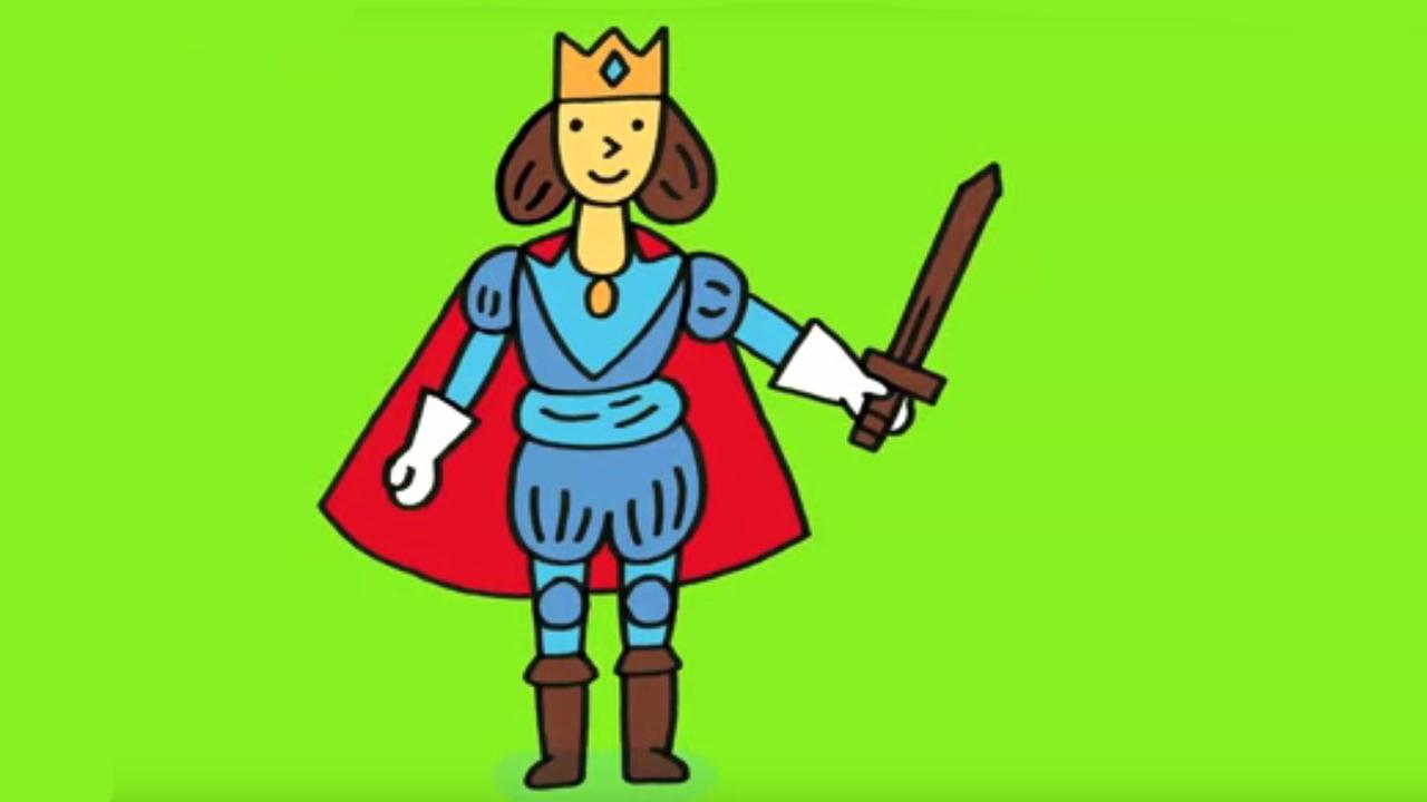 Apprendre dessiner un prince youtube - Dessin princesse facile ...