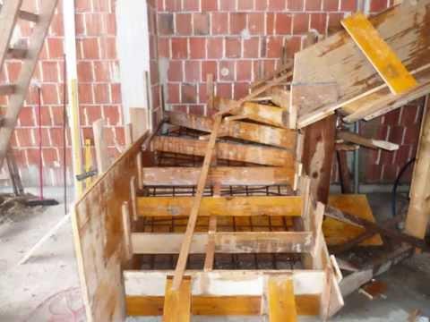 vasbeton lépcső készítés, beton lépcső zsaluzás, beton lépcső ...