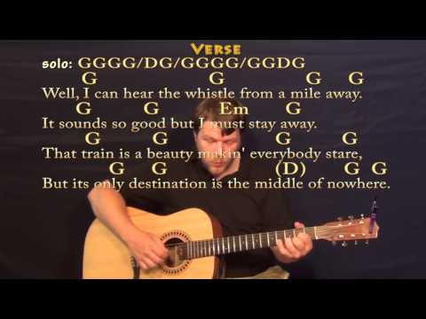 Long Black Train (Josh Turner) Fingerstyle Guitar Cover Lesson with Chords/Lyrics