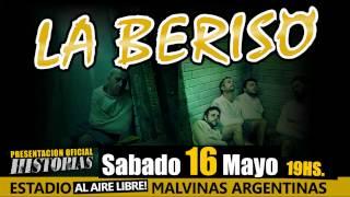 """16/5 LA BERISO Presenta """"Historias"""" en el Estadio Malvinas Argentinas (Al aire libre!)"""
