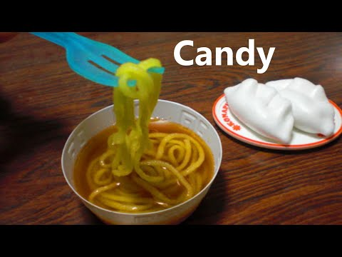 popin' cookin' #4 - Ramen noodles, Jiaozi shaped candy ...
